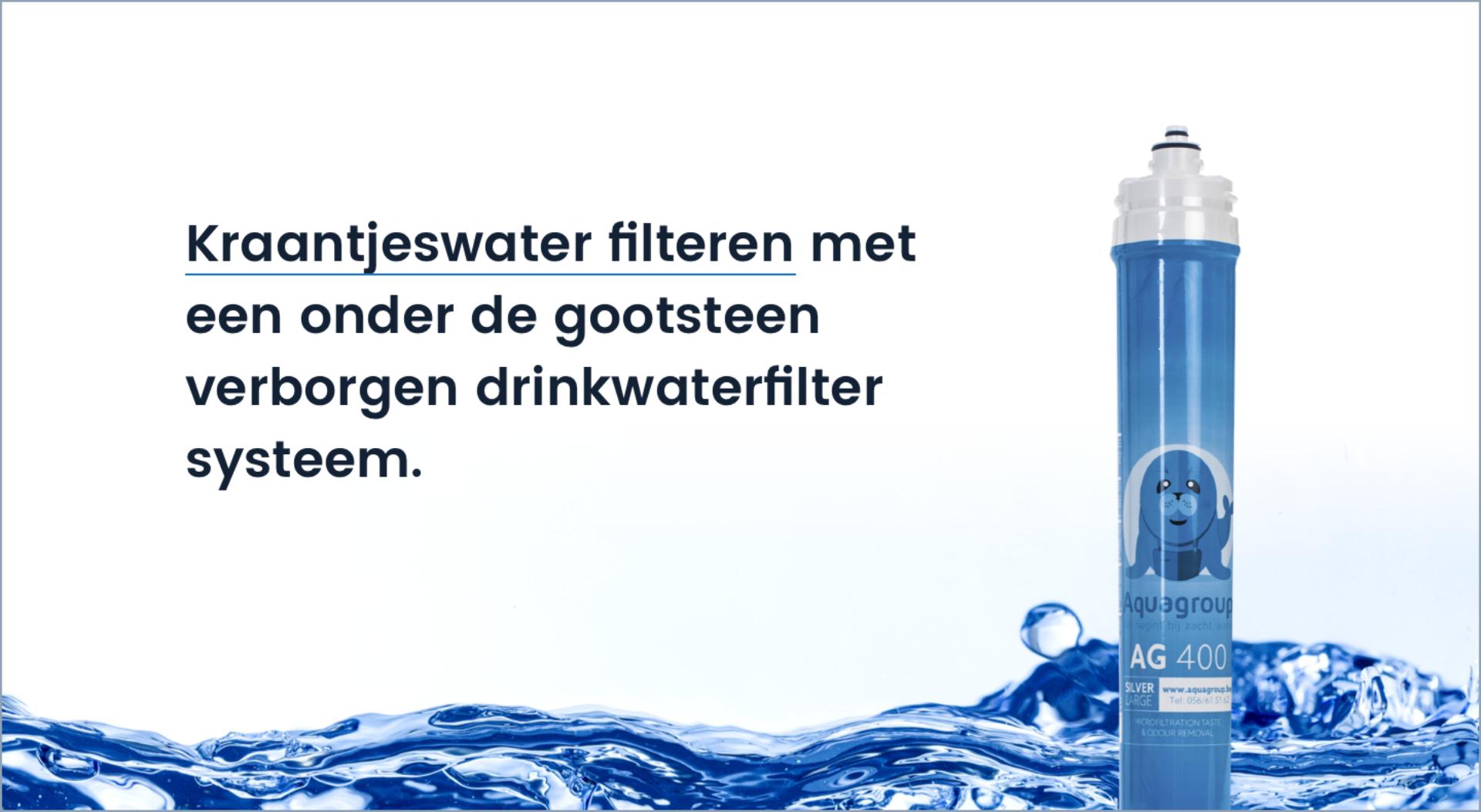 Kraantjeswater filteren met een onder de gootsteen verborgen drinkwaterfilter systeem.
